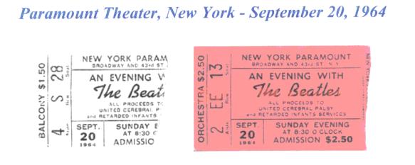 Beatles paramount theater